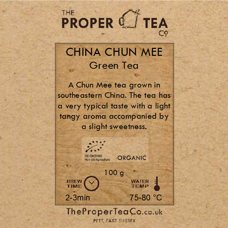 Organic Chun Mee Chinese Green Tea
