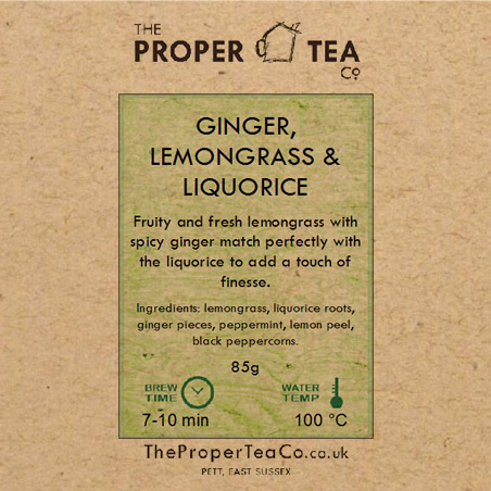 Ginger, Lemongrass & Liquorice Herb Tea Blend
