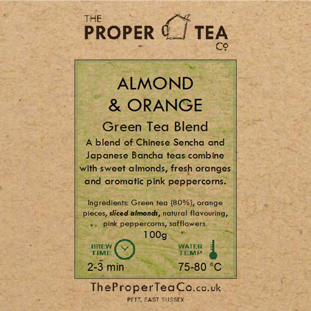 Almond & Orange Green Tea Blend
