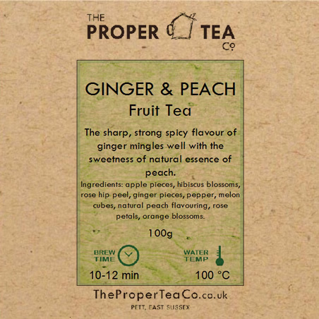 Ginger & Peach Fruit Tisane